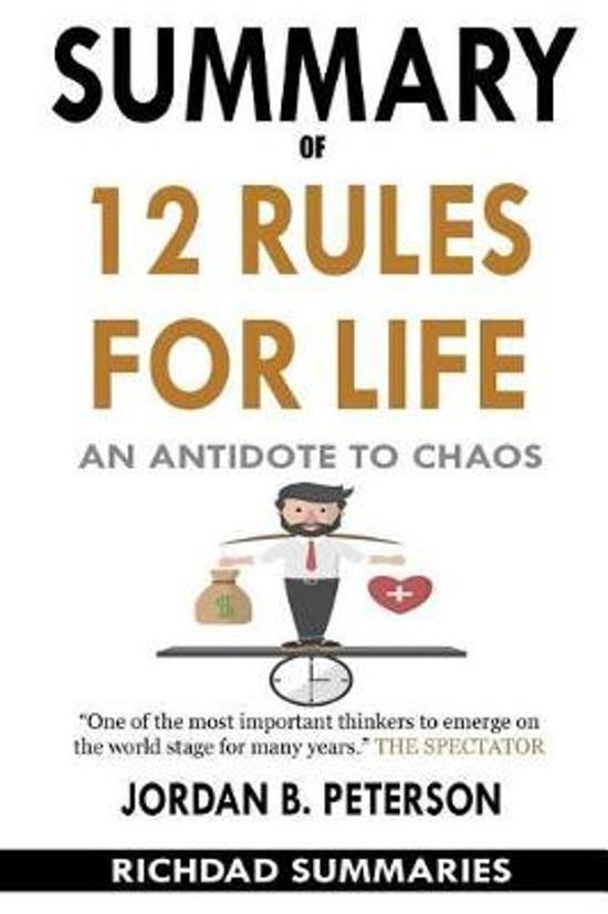 Boek cover Summary of 12 Rules for Life van Richdad Summaries (Paperback)