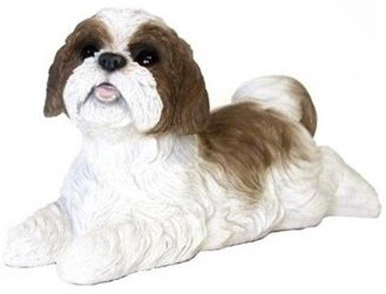 bol | beeldje liggende bruine boomer hond 19 cm