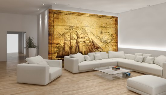 Brown   Yellow Photomural, wallcovering
