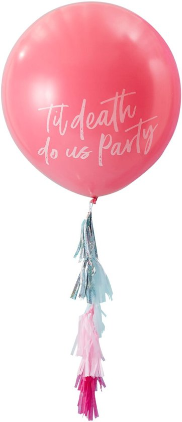 Ginger Ray Good Vibes 'Til death do us Party ' ballon Ø 90 cm - roze Valentinaa