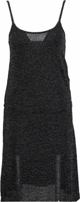 Only zwarte stretch party dress met glitter - Maat S
