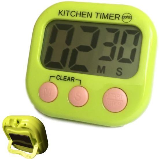 Gouda Select Kitchen Timer - Digitale Kookwekker Groen - Groot Display - Magneet