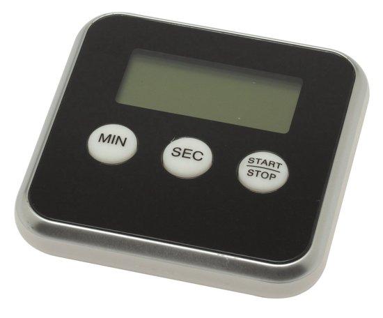 Premium Zwarte Magnetische Kookwekker Inclusief Standaard + Gratis Batterij | Digitale Kook Wekker Zwart | Magnetische Achterkant