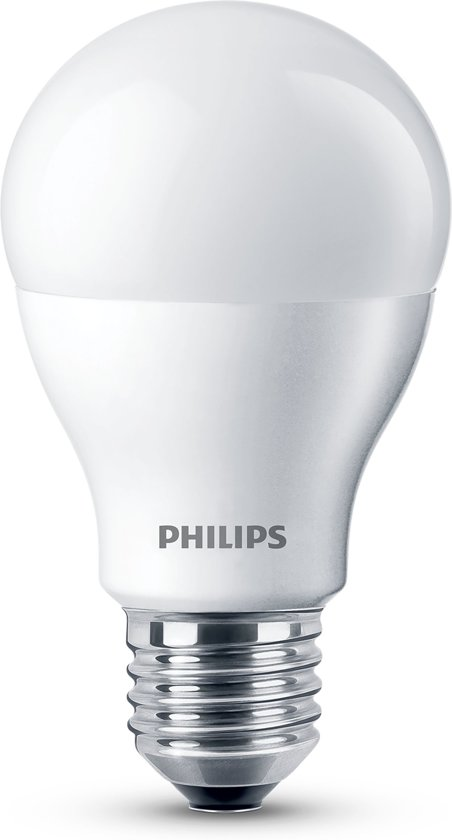 philips led lamp e27 10w 60w dimbaar. Black Bedroom Furniture Sets. Home Design Ideas