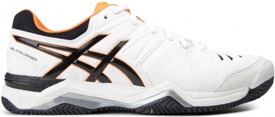 Asics - Gel-Challenger 10 Clay Heren Tennisschoen (zwart/wit) - EU 46 - US 11,5