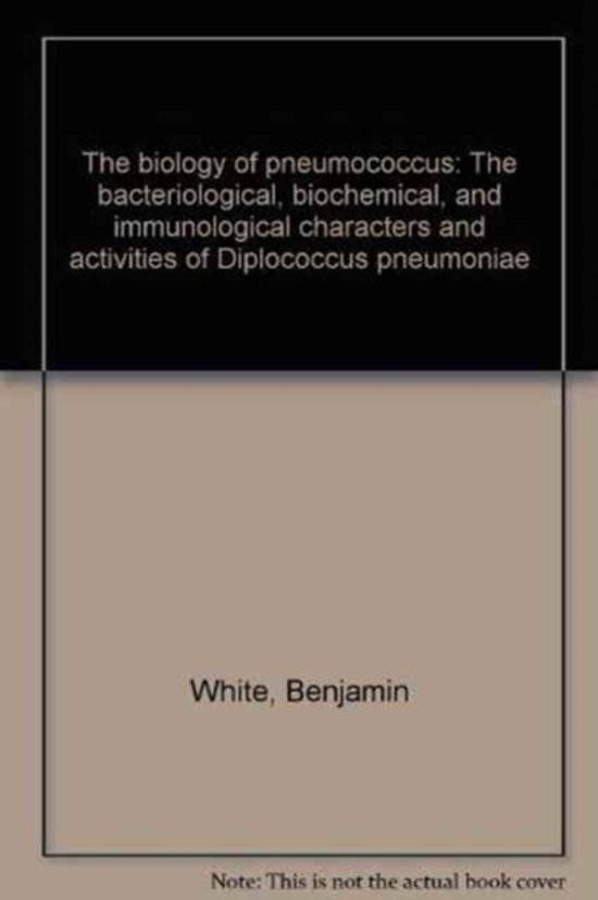 Pneumonia by R. Heffron, Introduction by Maxwell Finland. The Biology of Pneumococcus by B. White, New Foreword by Robert Austin