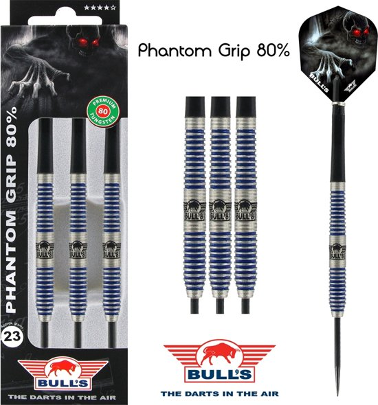 Bull's Phantom Grip 80%-21 gram Dartpijlen