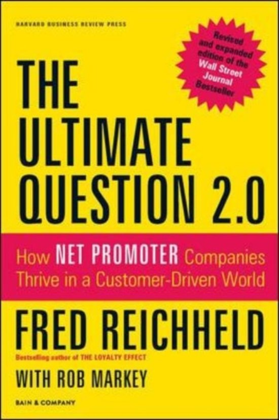Boek cover The Ultimate Question 2.0 (Revised and Expanded Edition) van Fred Reichheld (Hardcover)