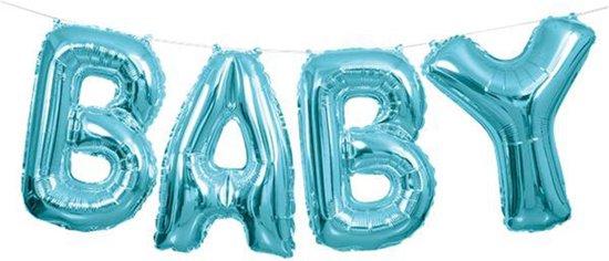 """kit letter folieballon 14"""" BABY Roze*"""