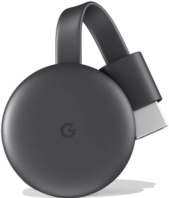 Google Chromecast Smart TV-dongle Full HD HDMI Antraciet, Grijs