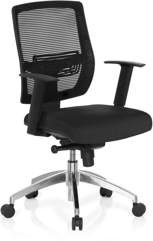hjh office Net Go - Bureaustoel - Netstof - Zwart / zwart