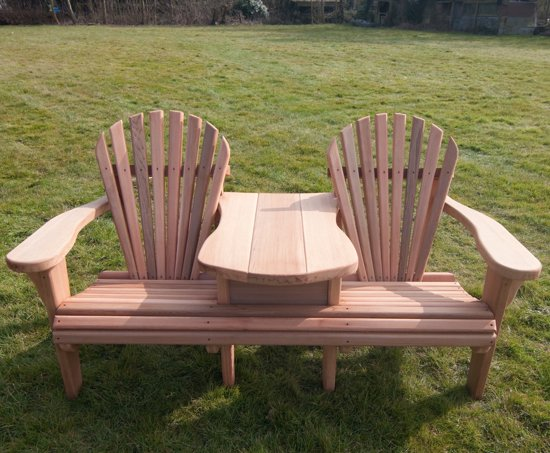 bol com   24Designs Red Cedar Duo Seat 2 zits Tuinbank 192 cm breed   Massief Cedar Hout