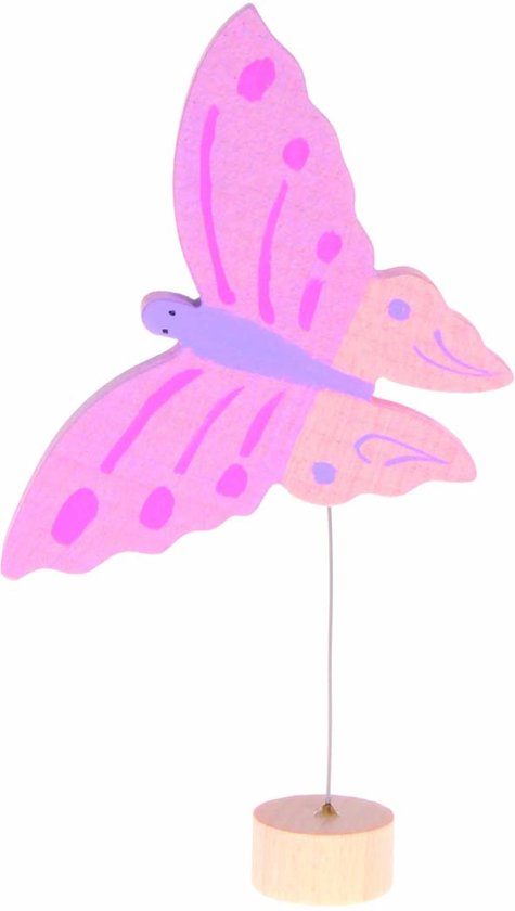 Grimm's Decorative Figure Pink Butterfly