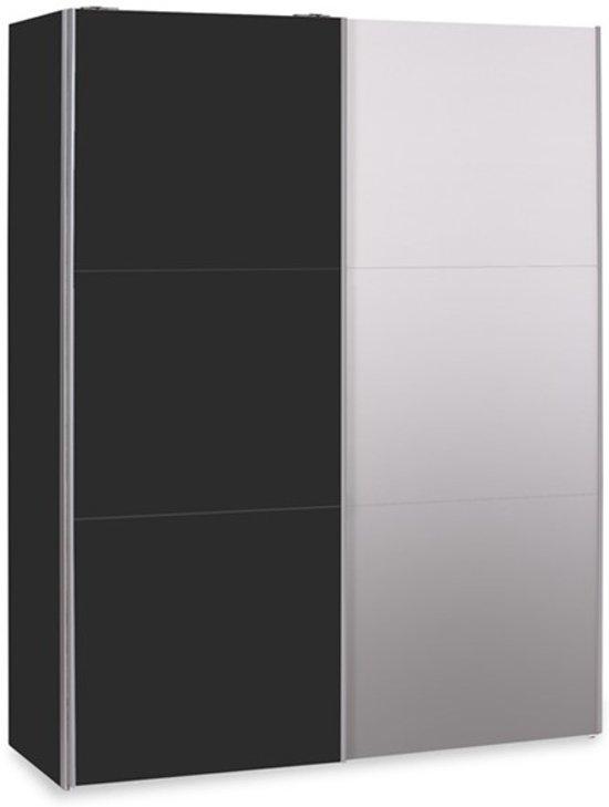 Schuifdeurkast Zwart Glas.Bol Com Schuifdeurkast Easy Met Spiegel B 153 Cm H 215 Cm
