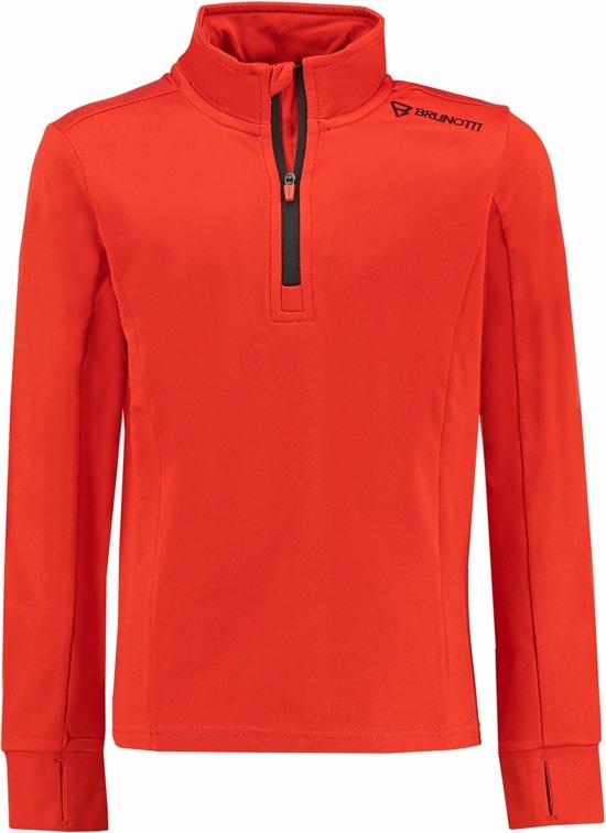 Brunotti Terni - Wintersportpully - Jongens - Maat 164 - Spicy Orange