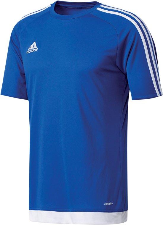 adidas Estro 15 Jersey  Sportshirt - Maat 140  - Unisex - blauw/wit