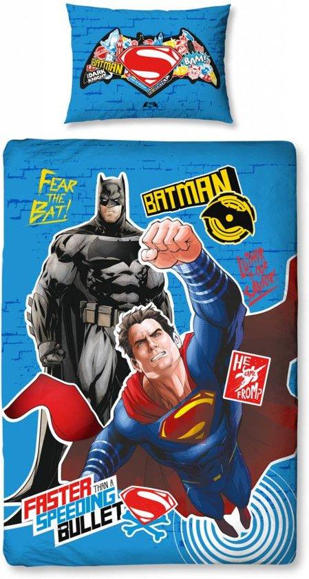 Batman v Superman Clash - Dekbedovertrek - Eenpersoons - 135 x 200 cm - Multi