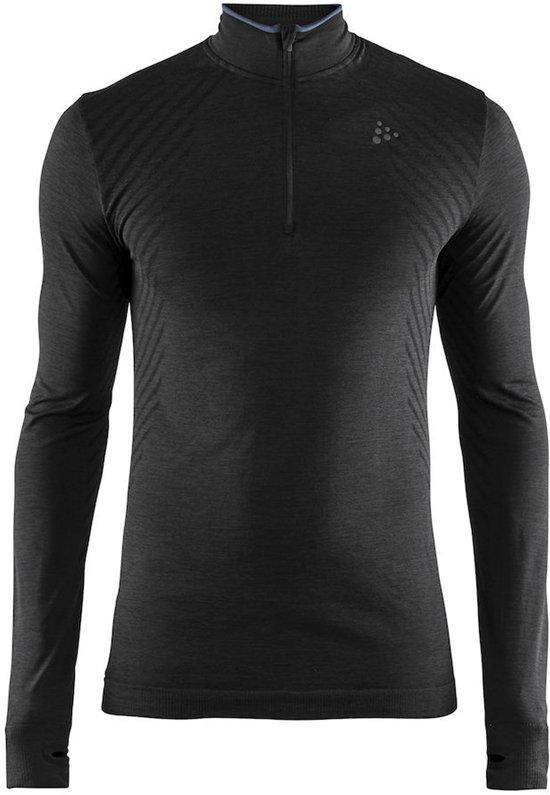 Craft Fuseknit Comfort Zip Heren Sportshirt - Black - M