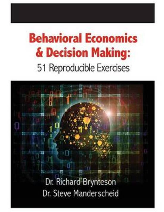 behavior economics Behavioral economics can make that irrationality more predictable understanding exactly how small changes to the details of an offer can influence the way people react to it is.