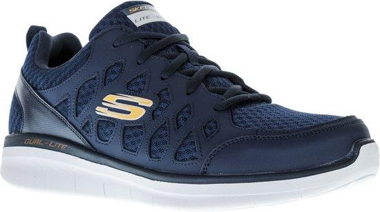 Skechers Mannen 2 0 Synergy Maat Sneaker oranje Herensneakers 44 Blauw Peslier grijs rBUrpTxqw