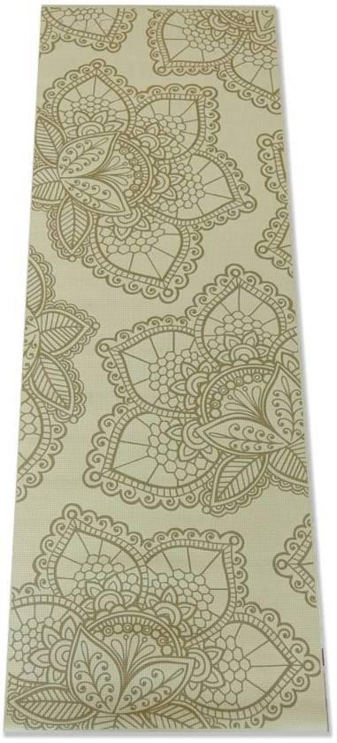 Yogamat Lotus - 4mm - Lichtgroen met Gouden Print