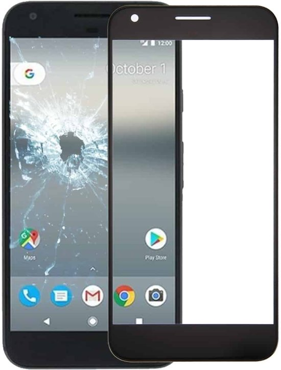 Let op type!! Front Screen Outer Glass Lens for Google Pixel XL (Black)