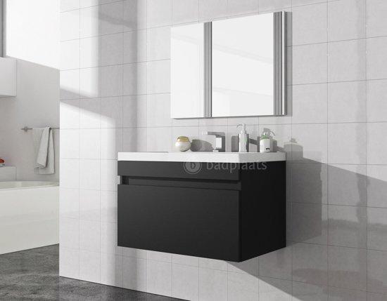 Wastafel Met Kast : Bol badplaats badkamermeubel roberto cm zwart kast met