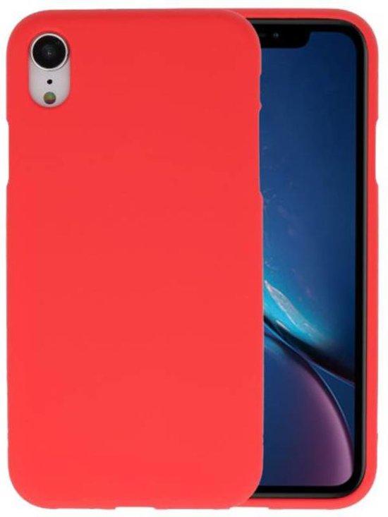 Rood Color TPU Hoesje voor iPhone XR