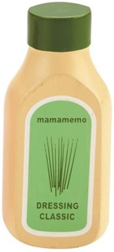 Mama Memo Fles Dressing Hout 10 Cm Wit/groen