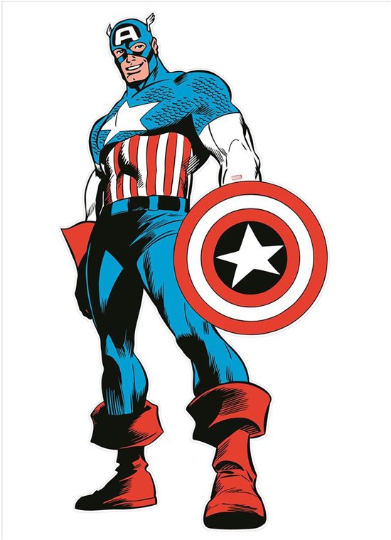 Marvel Comics - Maxi Muursticker - Captain America - 151x77 cm