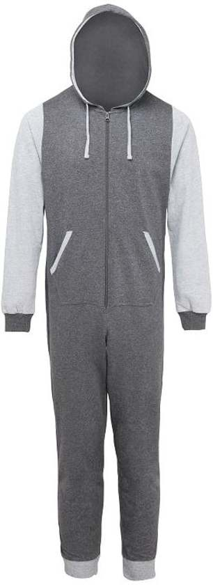 Onesie Contrast all-in-one KLEUR Charcoal / Heather Grey  MAAT  XS