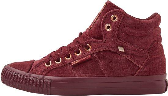 39 Dames Sneakers Dee Knights Hoog Red Suede British tPYx7