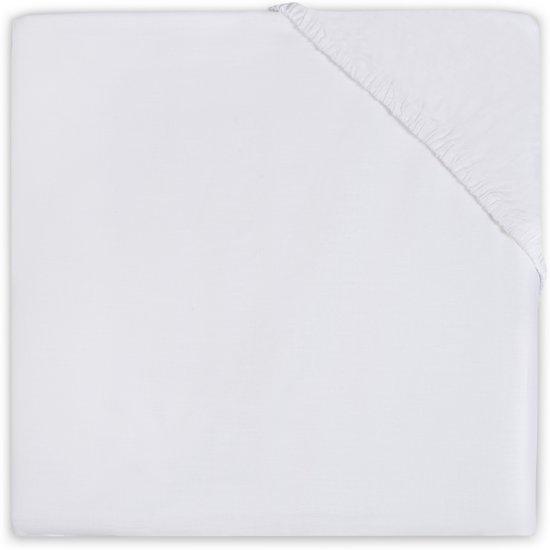 Hoeslaken katoen Little Lemonade 70x140cm white