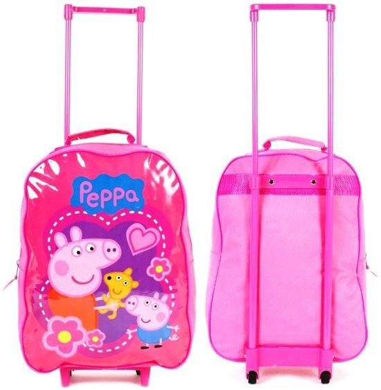 PEPPA PIG & George Kinder Trolley Vakantie Logeren Roze