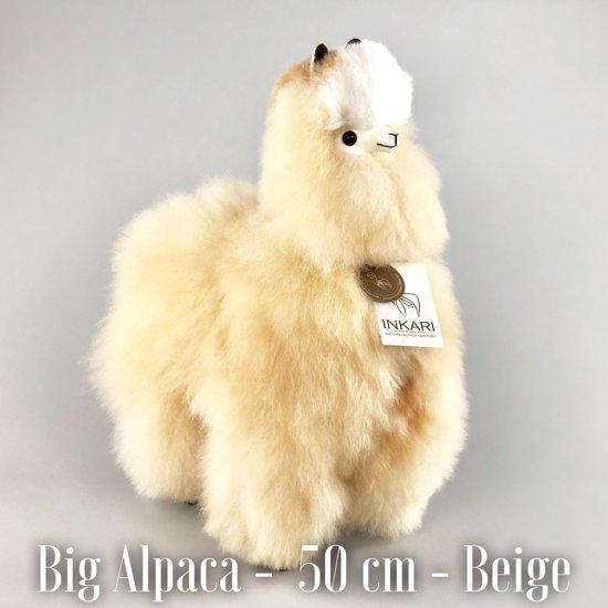 2ae2c80d6b3f7c Grote Alpaca Knuffel - Handgemaakt - Beige - 50 CM - Handgemaakt -  Allergie-vrij