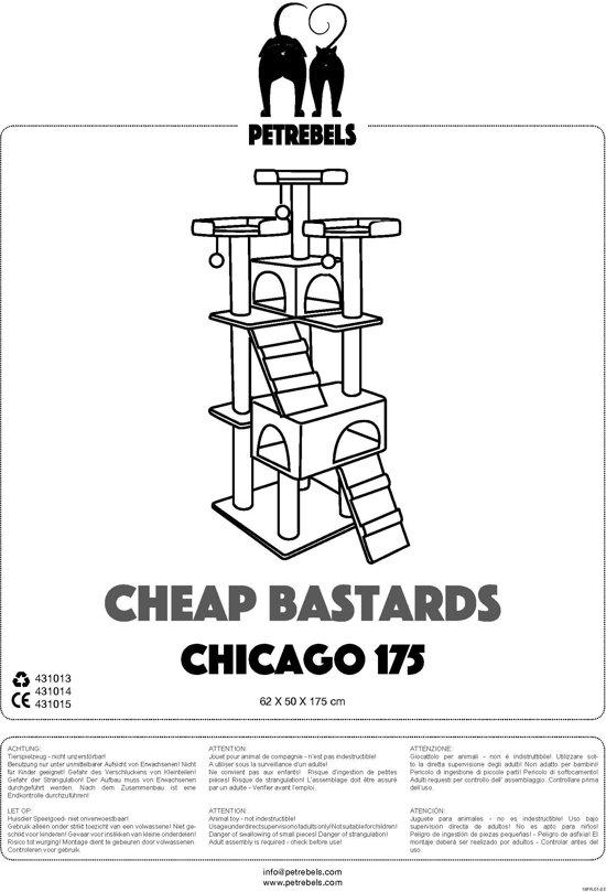 Petrebels krabpaal cheap bastards chicago 175 cream 62cm x 50cm x 175cm