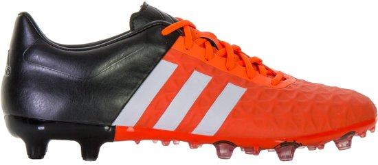 adidas ACE 15.2 FG/AG  Voetbalschoenen - Maat 41 1/3 - Mannen - oranje/zwart/wit