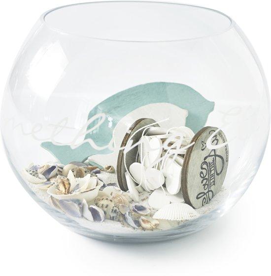 Rivièra Maison Something Else Glass Vase - Vaas met tekst- Glas - S