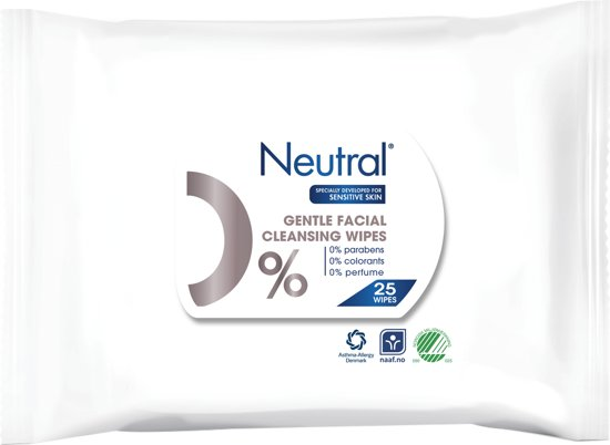 Neutral 0% Make-Up Remover Wipes Parfumvrij - 25 stuks - Gezichtsreiniging