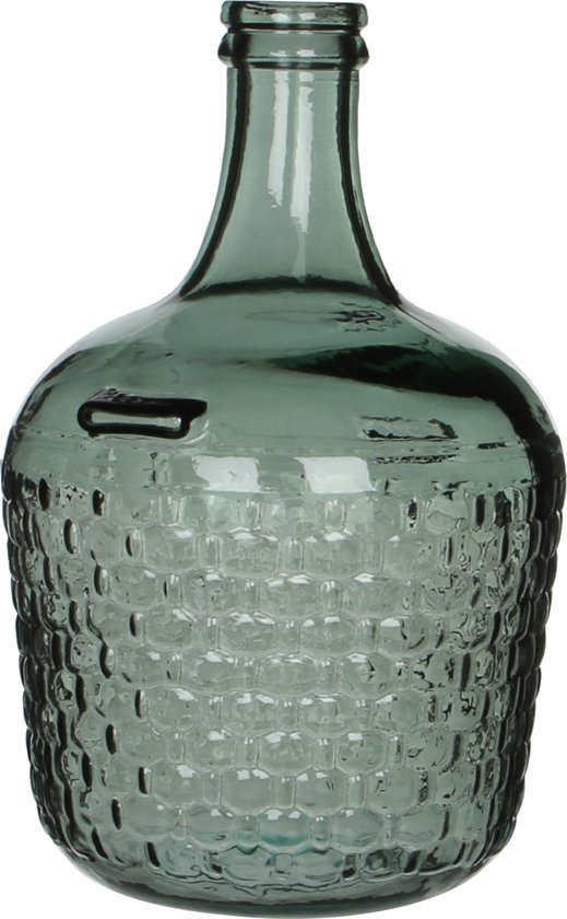 Mica Decorations - Fles Diego Weave Glas - Groen