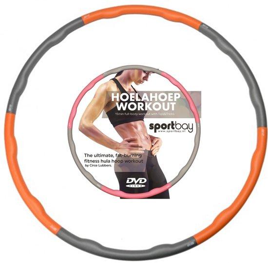 Hoelahoep 1.5 kg + Workout DVD oranje/grijs