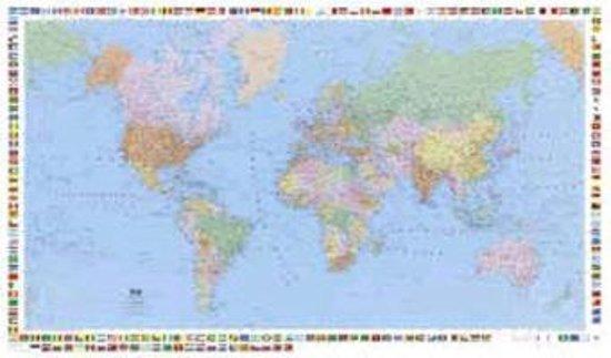 KuF Welt politisch 1 50 000 Posterkarte