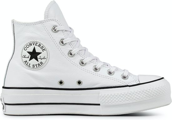 Converse All Stars Hoog Lift Clean Leather 561676C Wit-37
