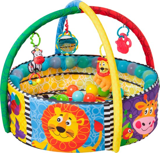 Afbeelding van Playgro - Ball Activity Nest - Speelkleed met 5 verschillende opstellingen! - Ballenbak - Speelkleed - Activity Center - PlayGym - Lay & Play speelgoed