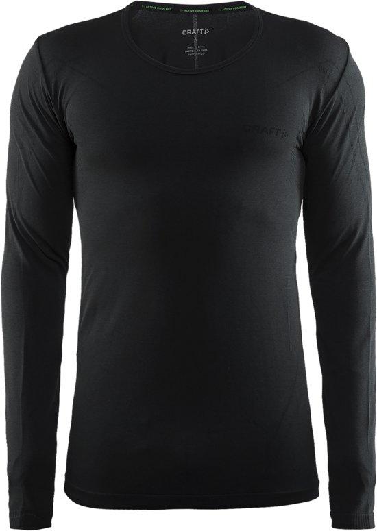 Craft Active Comfort Roundneck Ls Sportshirt Heren - Black Melange