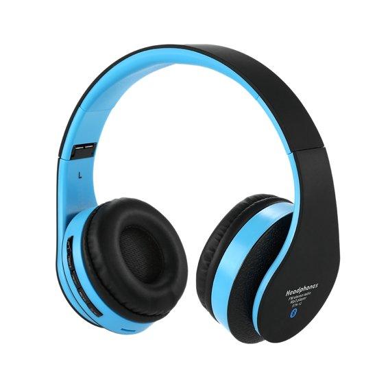 Wireless bluetooth headset STN12 Met Fm radio en Geheugen Poort zwart Voor o.a iPhone 4 / 5 / 6 / 6S PLus Samsung Galaxy S4 / S5 / S6 / S7 EDGE PLUS / LG / HTC / Huawei / Sony