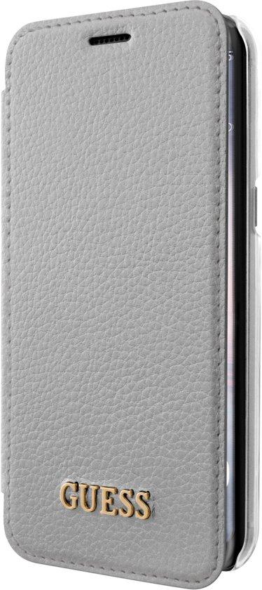 Argent Fond Transparent Folio Arrière Pour Samsung Galaxy S8 eQYXDK