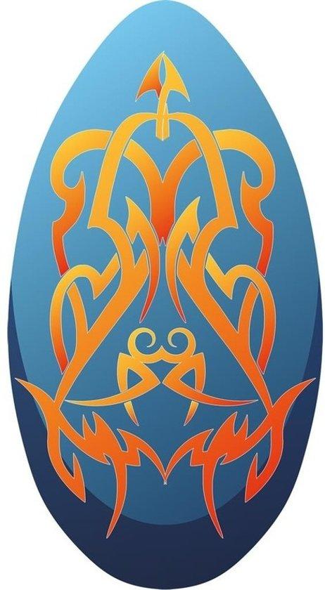 Skimboard Tribal blauw/oranje 100cm