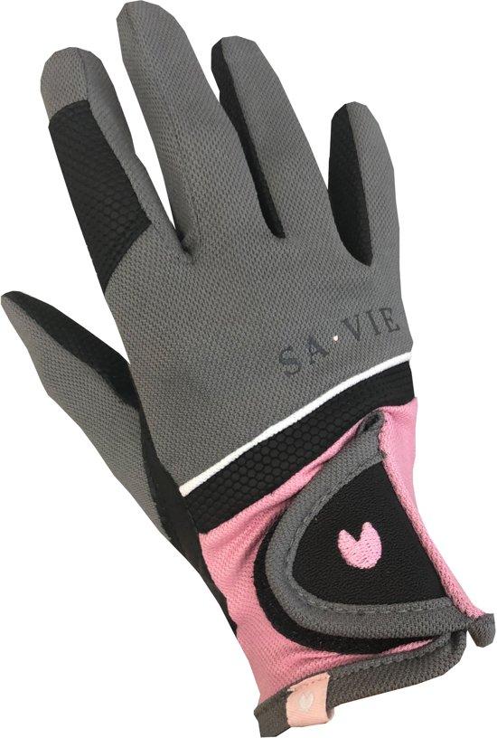 Paardrijhandschoenen Originals'20   SA VIE Originals   Grijs/Roze   S