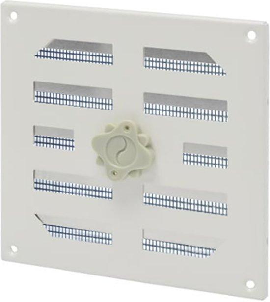 SENCYS verstelbaar ventilatierooster met hor, maat 15.5 x 15.5 cm  wit